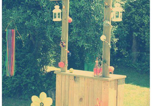 Stand y decoración de bebidas
