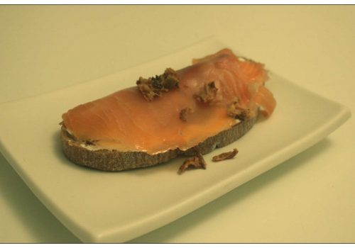 Tosta de salmón